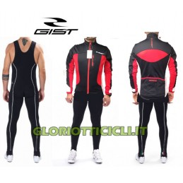 COMPLETE TIGHTS+ JACKET INSIDE BLACK-RED
