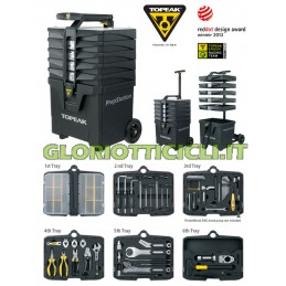 PORTABLE TROLLEY CHEST OF DRAWERS WITH 40 PROFESSIONAL TOOLS