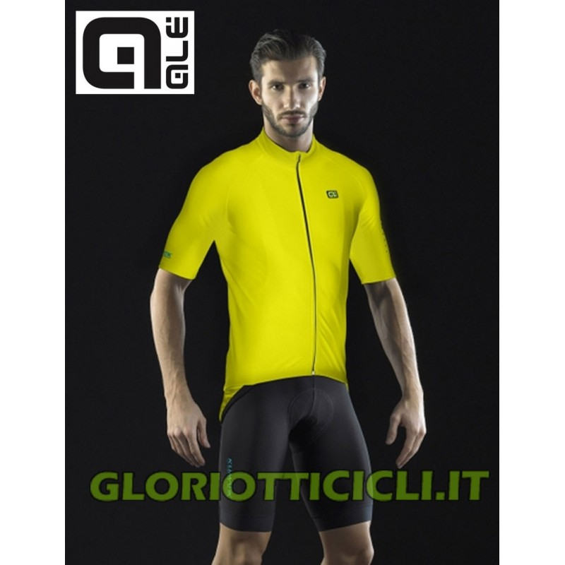 KLIMATIK WINTER JERSEY MC SS JERSEY YELLOW FLUO