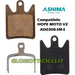 PASTIGLIE FRENO SEMI-METALLICHE PER HOPE MOTO V2