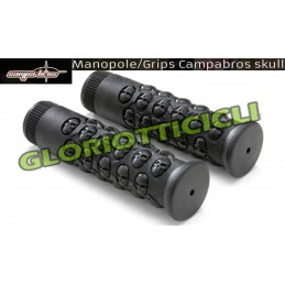 CAMPABROS WHITE KNOBS MTB DH ASSAULT WITH BLACK ALUMINUM BLOCK