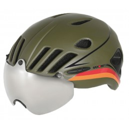 VISION ARMY GREEN BLACK HELMET