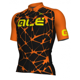 MESH M/C SOLID CRACLE BLACK ORANGE FLUO