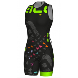 BODY DONNA TRIATHLON OLYMPIC TRI STELLE CON CERNIERA SUL RETRO