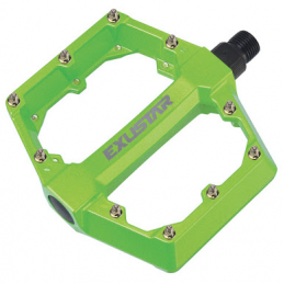 PEDAL PEDALS FLAT FREERIDER BMX GREEN FLUO